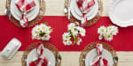 Tango Red Ribbed Table Runner 13x72 - 6