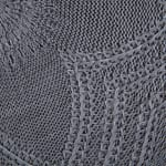 Gray Floral Woven Round Placemat Set/6 - 5