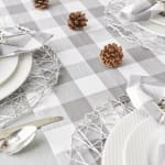 Gray & White Buffalo Check Table Runner 14x108 - 6