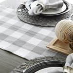 Gray & White Buffalo Check Table Runner 14x108 - 8