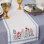 Flower Garden Embellished Table Runner 14x72 - 1