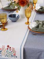 Flower Garden Embellished Table Runner 14x72 - 6