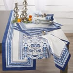 Porto Stripe Print Table Runner 14x108 - 1