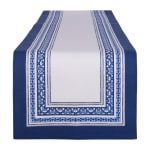 Porto Stripe Print Table Runner 14x108 - 2