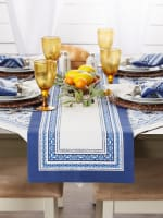 Porto Stripe Print Table Runner 14x108 - 3