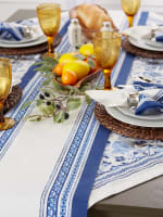 Porto Stripe Print Table Runner 14x108 - 4