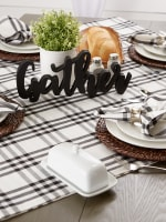 Homestead Plaid Tablecloth, 40x40 - 5