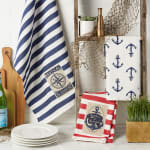"""Maritime Spread Kitchen Towels, 18x28"""", Set of 3 - 1"""