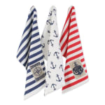 """Maritime Spread Kitchen Towels, 18x28"""", Set of 3 - 2"""