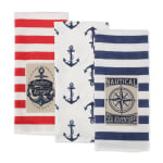 """Maritime Spread Kitchen Towels, 18x28"""", Set of 3 - 5"""