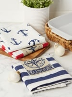 """Maritime Spread Kitchen Towels, 18x28"""", Set of 3 - 8"""