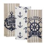 "Seafair Maritime Spread Kitchen Towels, 18x28"", Set of 3 - 6"