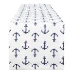 Anchors Away Print Table Runner 14x72 - 2