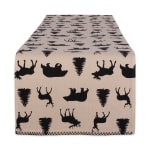 Mountain Trail Plaid Reversible Embellished Table Runner 14x72 - 4