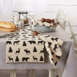 Mountain Trail Plaid Reversible Embellished Table Runner 14x72 - 6