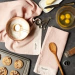 "Washed Waffle Woven Dishtowel Set, 18x28"", Pink Quartz, 2 Pieces - 1"