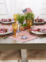 American Plaid Table Topper 40x40 - 6
