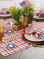 American Plaid Table Topper 40x40 - 8
