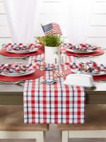 American Plaid Table Runner 14x72 - 1