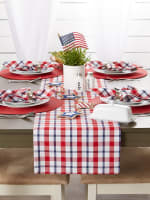 American Plaid Table Runner 14x108 - 7