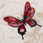 "Botanical Print Kitchen Textiles, 20x20"", Botanical Butterfly, 6 Pieces - 3"