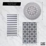 Gray/White Stripe Outdoor Floor Runner 3x6-ft - 3