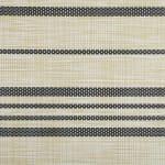 Black Farmhouse Stripe PVC Woven Placemat - 3