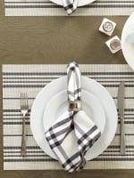 Black Farmhouse Stripe PVC Woven Placemat - 4