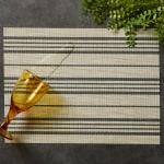 Black Farmhouse Stripe PVC Woven Placemat - 9