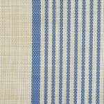 French Blue Middle Stripe PVC Woven Placemat - 3