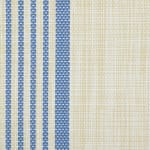 French Blue Middle Stripe PVC Woven Table Runner 14x72 - 4