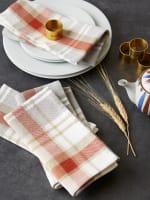 Thanksgiving Cozy Picnic, Plaid Napkin Set - 3