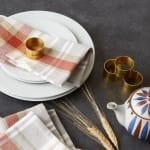 Thanksgiving Cozy Picnic, Plaid Napkin Set - 8