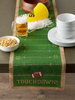 Touchdown Print Jute Table Runner 14X74 - 5