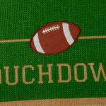 Touchdown Print Jute Table Runner 14X74 - 8