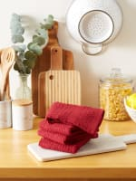 Solid Barn Red Waffle Terry Dishtowel (Set of 4) - 6