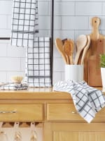 Mineral Gray Windowpane Terry Dishtowel (Set of 4) - 8