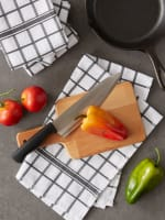Mineral Gray Windowpane Terry Dishtowel (Set of 4) - 9