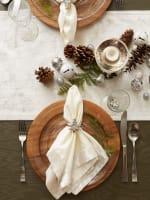 Cream Velvet Table Runner - 9