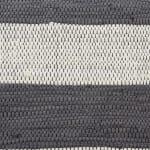 Gray and White Stripe Rag Rug - 5