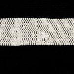 Black and White Stripe Rag Rug - 3