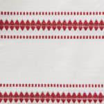 Barn Red Zig Dobby Stripe Table Runner - 7