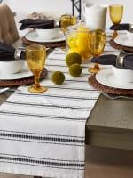 DII Black Zig Dobby Stripe Table Runner - 1