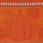 Burnt Orange Harvest Embellished Dishtowel Set/3 - 5