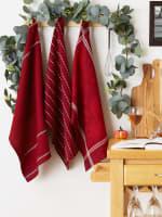 Redwood Harvest Embellished Dishtowel Set/3 - 4