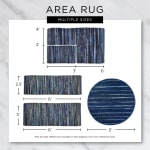 Mineral  Recycled Cotton Loop Gray Rug - 6