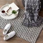 Mineral  Recycled Cotton Loop Gray Rug - 7