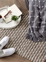 Stone Recycled Cotton Loop Rug - 9
