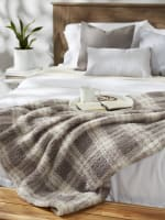 Gray Farmhouse Plush Plaid Throw - 7