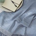 Stonewash Blue & White Waffle Knit Throw - 6